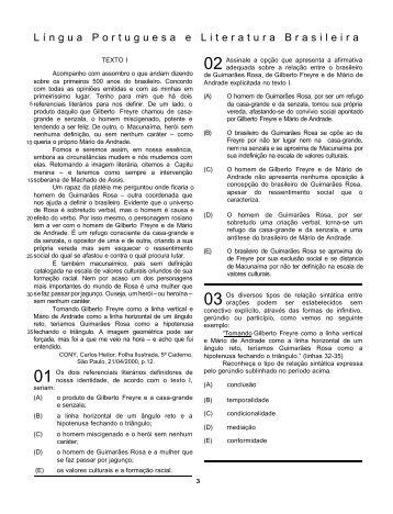 língua portuguesa e literatura brasileira (lplb) - Uff