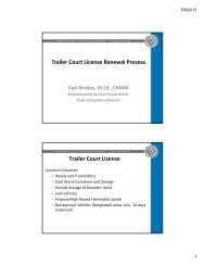 Trailer Court License Renewal Process Trailer ... - City of El Paso