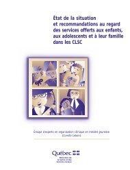 État de la situation et recommandations au regard des services ...