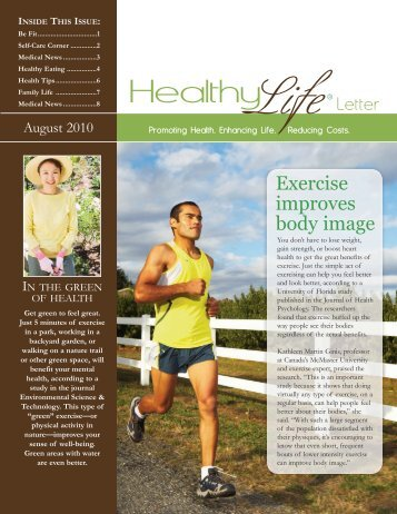 August 2010 Sample Newsletter - American Institute for Preventive ...