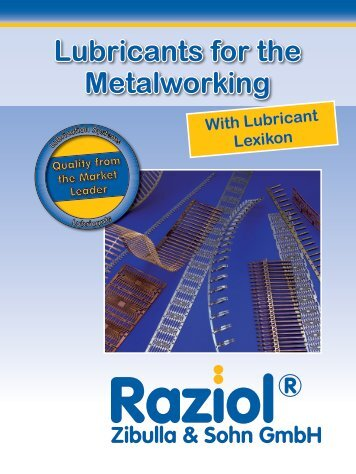 Lubricants for the metalworking with lubricant lexikon - Raziol