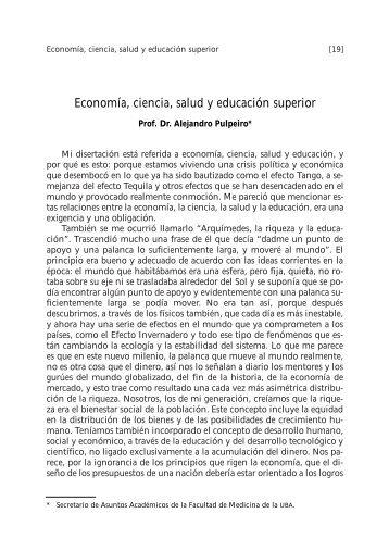 Economía, ciencia, salud y educación superior - FMV