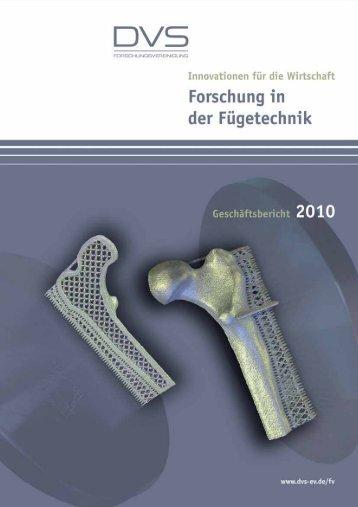 5 Durchlaufende / Abgeschlossene Forschungsprojekte 2010 ... - DVS