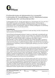 Kvalitetsredovisning 2011 - CFL