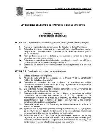 Ley de Bienes del Estado de Campeche y de sus Municipios