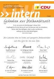 CDU intern - Das Mitgliedermagazin der CDU Ortenau - Ausgabe