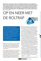OP eN Neer MeT De rOLTraP - Nederlandse Wiskunde Olympiade