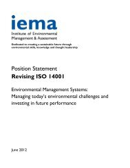 Position Statement Revising ISO 14001
