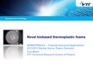 Novel biobased thermoplastic foams - Tekes