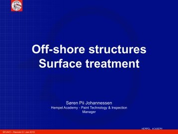 Off-shore structures Surface treatment - FMV