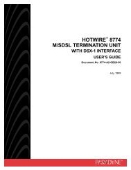 Hotwire 8774 TDM SDSL Termination Unit, with DSX-1 Interface ...