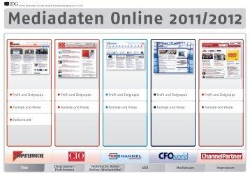 Mediadaten Online 2011/2012 - IDG Business Media