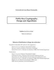 Public-Key Cryptography: Design and Algorithmic - Greyc