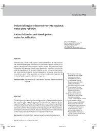 Industrialização e desenvolvimento regional: notas para reflexão ...