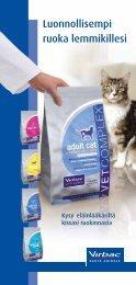 Virbac kissan päivittäisruokavalioesitteeseen - Vetcare