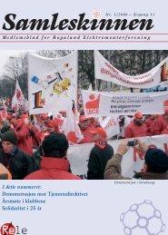 Demonstrasjon mot Tjenestedirektivet Årsmøte i klubbene Solidaritet ...