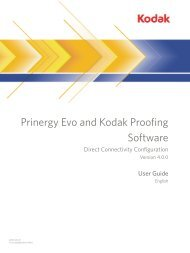 Prinergy Evo and Kodak Proofing Software