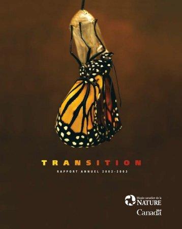 Rapport annuel 2002-2003, Museé canadien de la nature - Musée ...