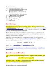 Stavová rovnice Stavová rovnice ideálního plynu