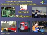 Schwerpunkt Maschinenbau - Limburg