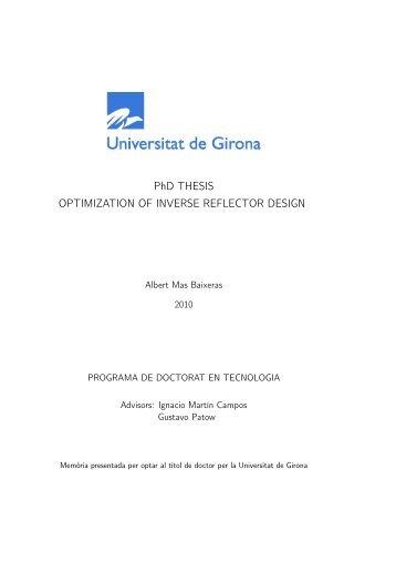Optimization on Inverse Reflector Design