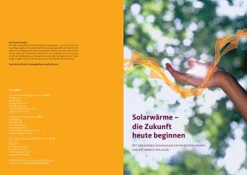Solarwärme – die Zukunft heute beginnen - Energynet
