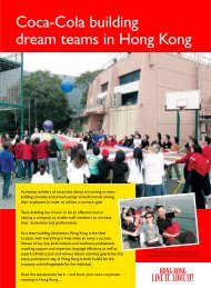 Coca-Cola building dream teams in Hong Kong - Discover Hong Kong
