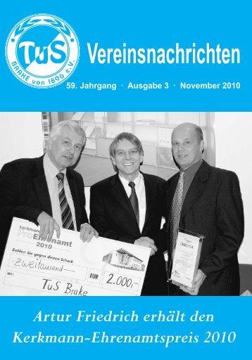Vereinsnachrichten - TUS BRAKE von 1896 - Bielefeld