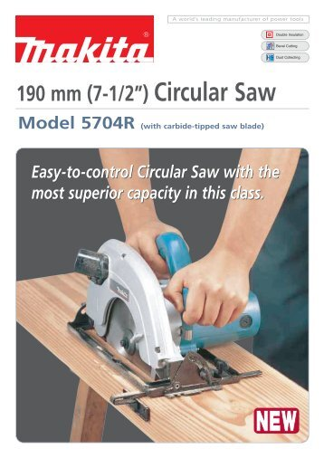 "190 mm (7-1/2"") Circular Saw - Makita"