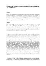 El discurso sobre las competencias y el nuevo espíritu ... - Filosofia.net