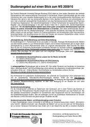 Studienangebot auf einen Blick zum WS 2009/10 - Friedrich ...