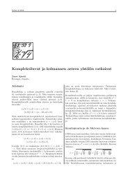 Kompleksiluvut ja kolmannen asteen yhtälön ratkaisut - Helsinki.fi
