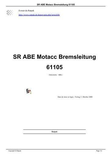 SR ABE Motacc Bremsleitung 61105 - Ratpak