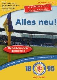 Heft 01: Dynamo Dresden - FanPresse Braunschweig