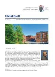 UNIaktuell - Ernst-Moritz-Arndt-Universität Greifswald