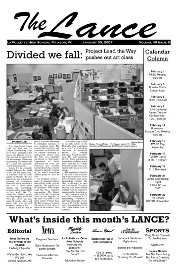 February 2007 - Malcolm Shabazz City High School, Madison WI