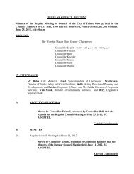 Regular Council Meeting held June 25, 2012 - City of Prince George
