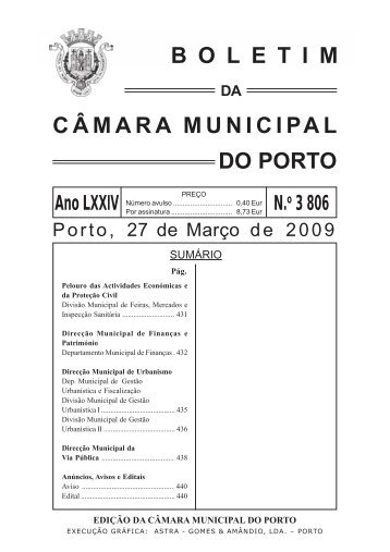 boletim 3806 - Câmara Municipal do Porto