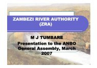 ZAMBEZI RIVER AUTHORITY (ZRA) M J TUMBARE ... - INBO