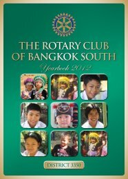 Yearbook 2012 - The Rotary Club of Bangkok South