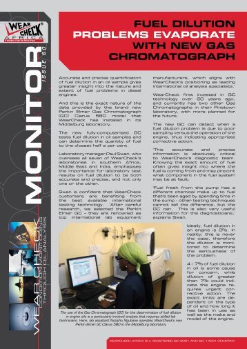 Monitor Issue 60 - WearCheck