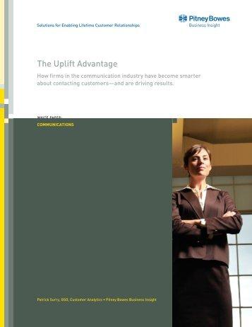 The Uplift Advantage - Pitney Bowes