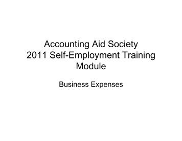 Business Expenses - CFED