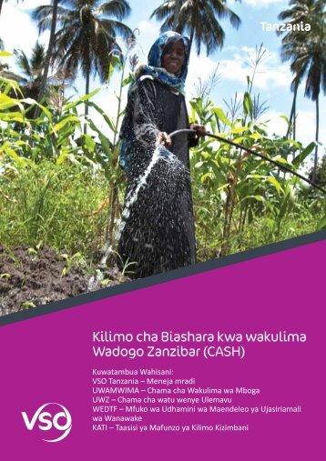 Kilimo cha Biashara kwa wakulima Wadogo Zanzibar (CASH) - VSO