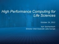 High Performance Computing for Life Sciences - World Health Summit