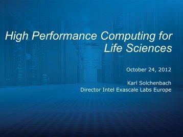 High Performance Computing for Life Sciences - World Health Summit