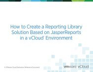 How to Create a Reporting Library Solution Based on ... - VMware