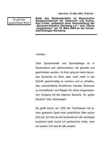 """""""Senioren-Initiative Nürnberg e.V."""" zum Thema ... - Freller, Karl"""