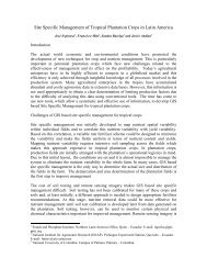 Site Specific Management of Tropical Plantation Crops in Latin ...