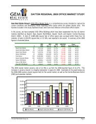 dayton regional 2009 office market study - Dayton Area Chamber of ...